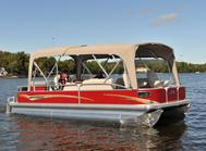 Double pontoon bimini tops